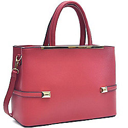 1b4048191220 Image of product 736-153. QUICKVIEW. Dasein Faux Leather Framed Tote Bag ...
