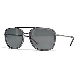 Burberry Men's 54mm Matte Black Aviator Frame Sunglasses w/ Case
