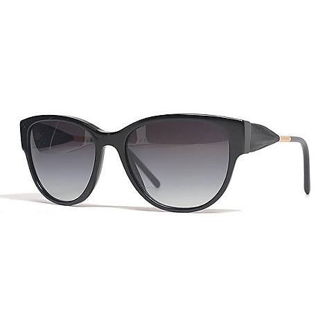 f57a3acd08fbc 736-479- Burberry 56mm Black Round Frame Sunglasses w  Case