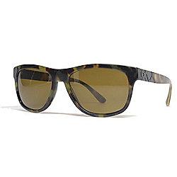 83d8039411 Burberry 57mm Green Havana Rectangular Frame Sunglasses w  Case