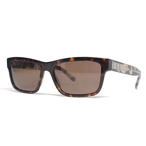 bad1f3bd1f 736-487- Burberry Havana Rectangular Frame Sunglasses w  Case