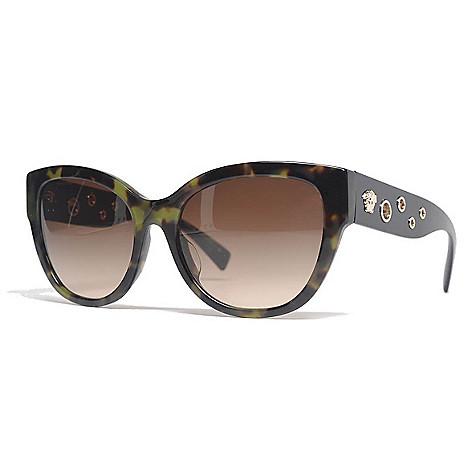 c0946067a306 736-489- Versace 56mm Havana Round Frame Sunglasses w  Case