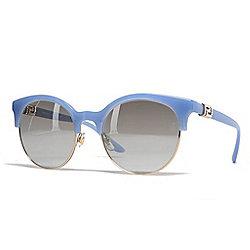 f7a20876b56f Versace 53mm Blue Round Frame Sunglasses w  Case