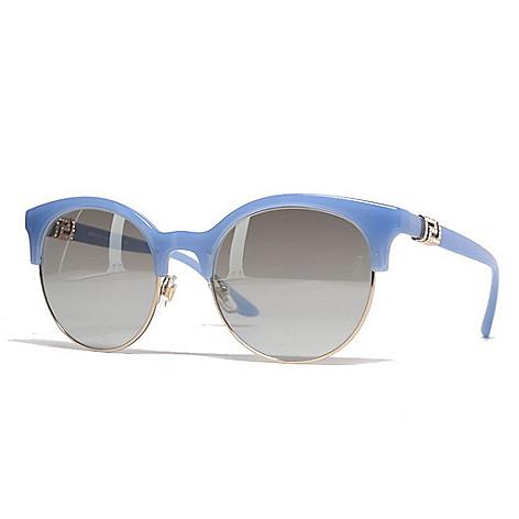9e5dccec703 736-490- Versace 53mm Blue Round Frame Sunglasses w  Case