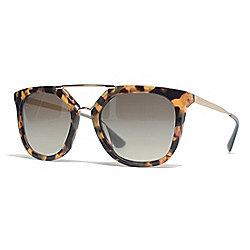 593299315d22 Prada 54mm Havana Aviator Frame Sunglasses w  Case