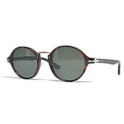 5c6727d5ffdc1 Persol Unisex 48mm Havana Round Frame Sunglasses w  Case