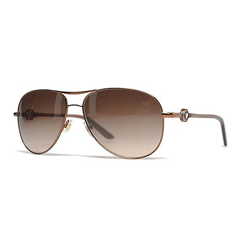 695ada0affa 736-767- Versace Brown Aviator Frame Sunglasses w  Case