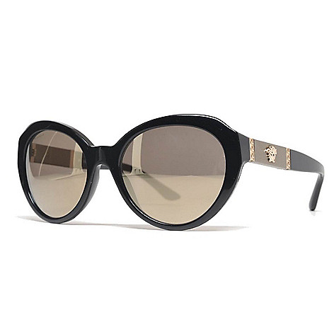 a613437c40f8f 736-769- Versace 56mm Black Cat Eye Frame Sunglasses w  Case