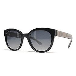 2842adb5968 Burberry 52mm Gradient Lens Black Round Frame Sunglasses w  Case