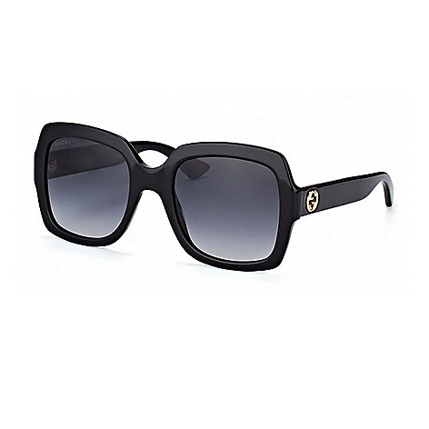 b7b29ed7a0 Gucci Gradient Lens Black Square Frame Sunglasses w  Case - EVINE