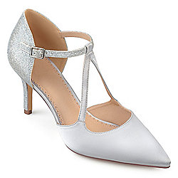 d0fe67532d4 Image of product 737-017. QUICKVIEW. More Choices Available. Journee  Collection Glitter Pointed Toe Ankle Strap ...