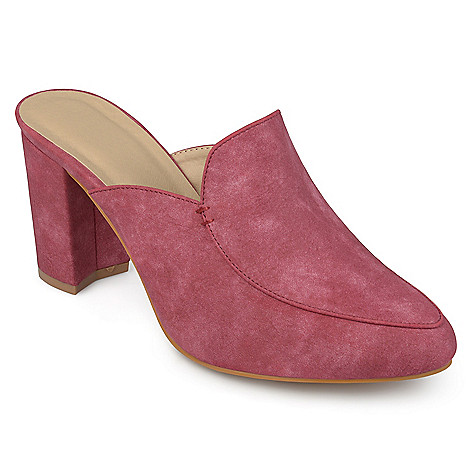 a8c1824cef6 737-050- Journee Collection Faux Suede Block Heel Mules