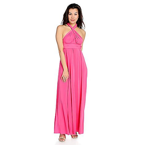 Kate Mallory Stretch Knit Elastic Waist Convertible Maxi Dress