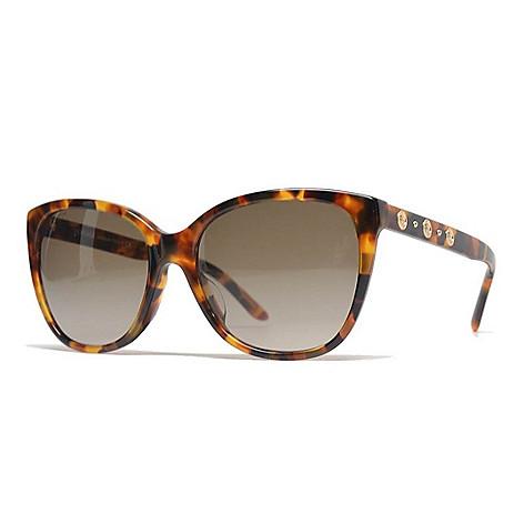3a97d3f85 737-406- Versace 57mm Havana Cat Eye Frame Sunglasses w/ Case