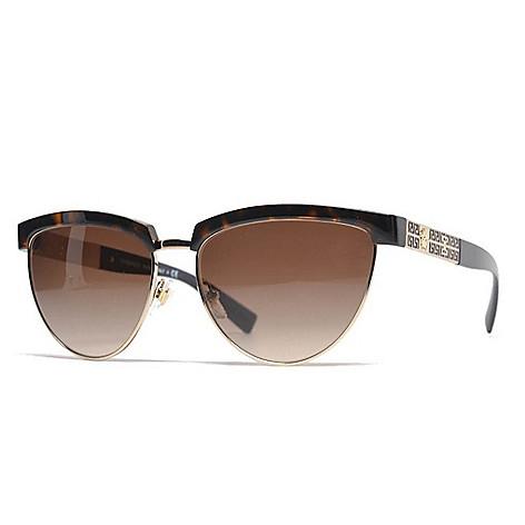 21d915a0a1666 737-408- Versace 56mm Havana Half-Frame Sunglasses w  Case