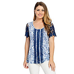 4f3801f5022795 Image of product 737-418. QUICKVIEW. More Choices Available. OSO Casuals®  Printed Knit Short Sleeve ...