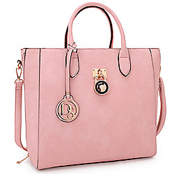 b95d4afe703b Image of product 737-434. QUICKVIEW. Dasein Elegant Faux Leather Emblem Tote
