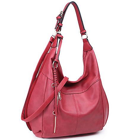 2abb2ab7b7 737-436- Dasein Faux Leather Braided Strand Hobo Handbag