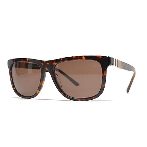 c9f752a0de 737-525- Burberry Men s 58mm Havana Faux Tortoiseshell Rectangular Frame  Sunglasses w  Case