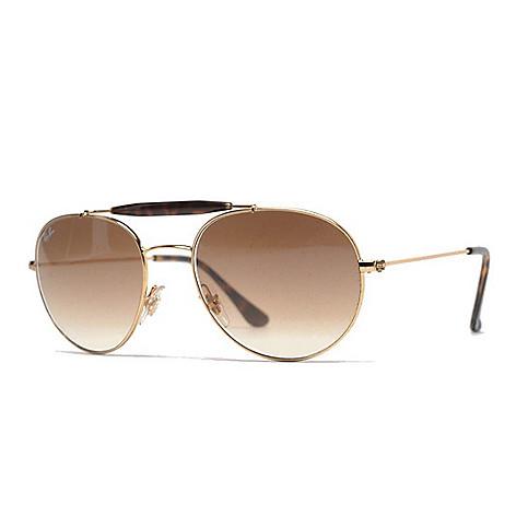 52d263e1490e8 Ray-Ban Unisex 53mm Gold-tone Aviator Frame Sunglasses w  Case - EVINE