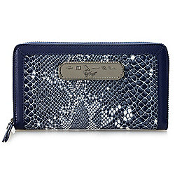 Snake Textured - 737-540 Sharif Anaconda Tears Snake Printed Leather RFID Blocking Wallet - 737-540