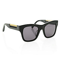 4d75596f6f8 Stella McCartney 49mm Square Frame Chain Detailed Sunglasses w  Case