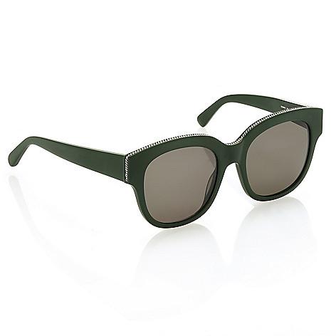 f5b056445c 737-658- Stella McCartney 54mm Green Round Sunglasses w  Case