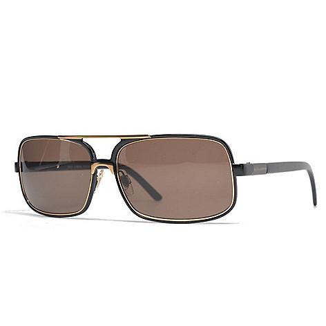 20376e097335 Dolce & Gabbana 61mm Black & Gold-tone Aviator Sunglasses w/ Case ...