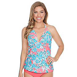 3457b54250 Beach Diva Sultry Bloom Stretch Knit Swimsuit Bottoms. Evine Price $26.99.  Image of product 737-978