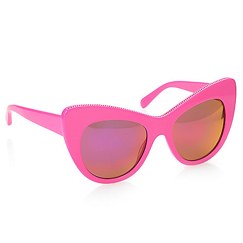 Stella McCartney Hot Pink Cat Eye Frame Sunglasses w/ Case - EVINE