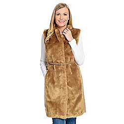 91a9191d0a7 Donna Salyers  Fabulous-Furs Faux Wool   Faux Fur V-Neck Vest w