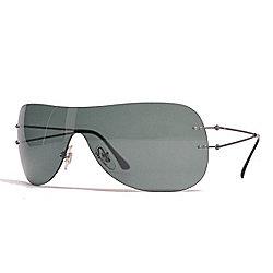 f91d2c68a9 Ray-Ban 34mm Gunmetal-tone Shield Frame Sunglasses w  Case