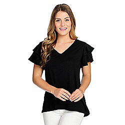 3782dace1ff907 Image of product 738-203. QUICKVIEW. More Choices Available. OSO Casuals®  Knit Tiered Ruffle Sleeve ...