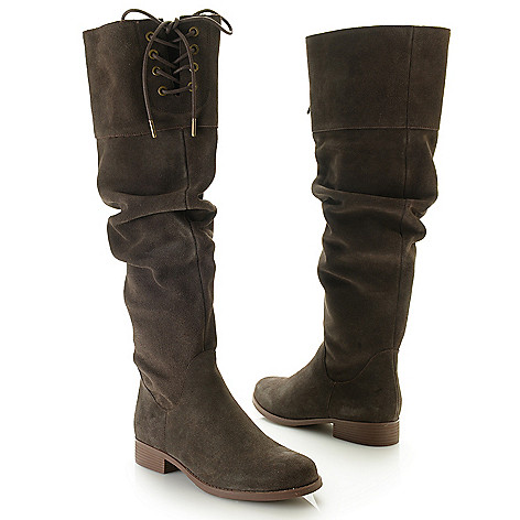 738 228 Matisse Camila Suede Leather Tie Front Knee High