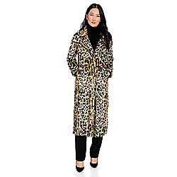 4e7b4904796c Donna Salyers' Fabulous-Furs Faux Fur Satin Lined Hook Front Full-Length  Coat