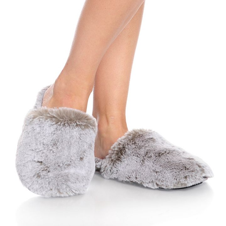 Once Only Deal  at ShopHQ - 738-450  Harve Benard Faux Fur Slippers
