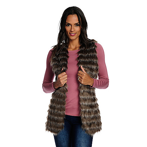 e4a3f9e2838 Image of product 738-460. QUICKVIEW. Donna Salyers  Fabulous-Furs Faux Fur  2-Pocket Satin Lined Open ...