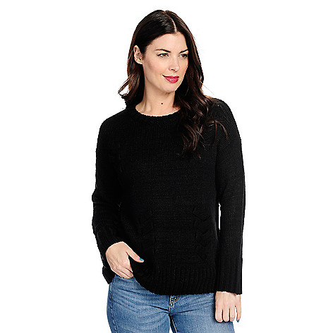 738-544- OSO Casuals® Knit Long Sleeve Drop Shoulder Lace-up Detailed c7ce78ae0
