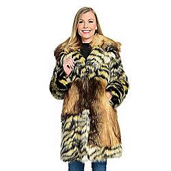 b54a1ff49b33d Donna Salyers' Fabulous-Furs Faux Fur 3-Pocket Shawl Collar Stroller Coat