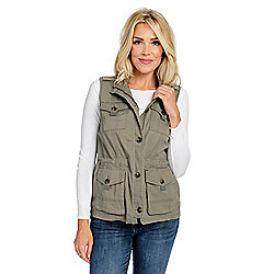 d4344ac9b0c OSO Casuals® Woven Twill 4-Pocket Zip Front Military Vest