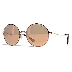 302764d54936f Michael Kors 55mm Rose-tone Round Frame Sunglasses w  Case