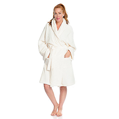 aa45002352 738-913- Harve Benard Plush Waffle Textured Self-Tie Robe