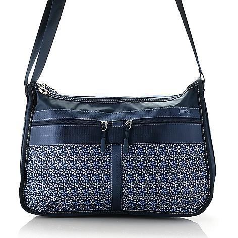 cf1900ce119 738-989- Jambu   Co. Printed Dual Compartment Zip Top Shoulder Bag
