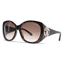 6b2a3b0b8489 Roberto Cavalli 58mm Havana Square Frame Sunglasses w  Case