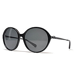 Coach 56mm Black Round Frame Sunglasses w/ Case