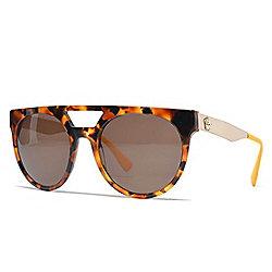 f8af494751c64 Versace 55mm Havana   Gold-tone Aviator Frame Sunglasses w  Case