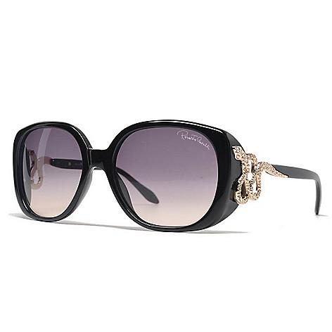 9c8da2e91d 739-161- Roberto Cavalli 56mm Black Snake Detail Cat Eye Frame Sunglasses