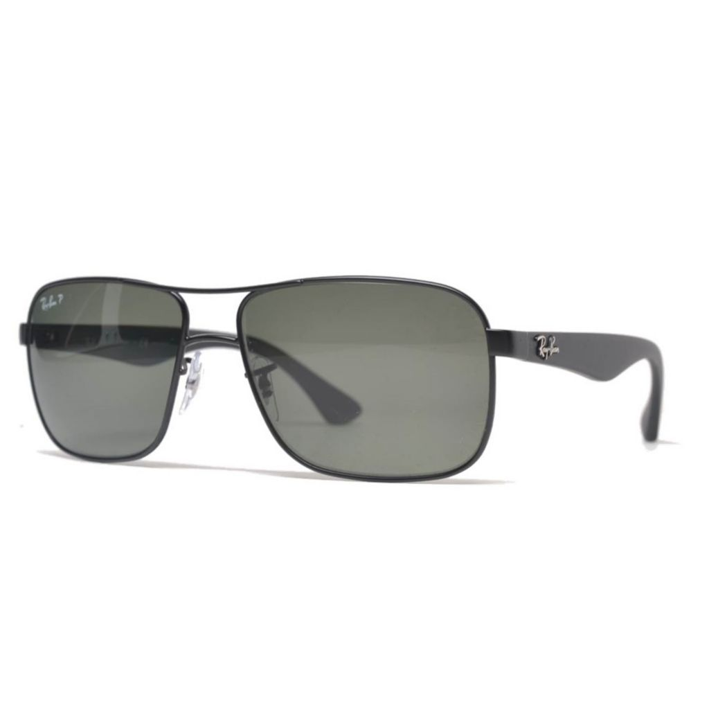 Ray Ban Men S 59mm Black Polarized Aviator Frame Sunglasses W Case