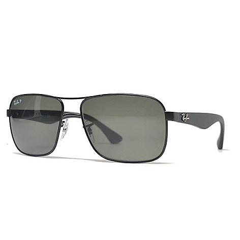 6195f53f77 Ray-Ban Men s 59mm Black Polarized Aviator Frame Sunglasses w  Case ...