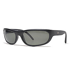 434048475e Ray-Ban Men s 60mm Black Polarized Rectangular Frame Sunglasses w  Case